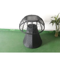 rattan desk with one piece solar lamp in it