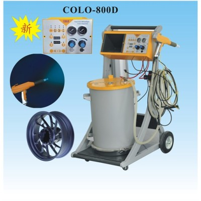 machine for powder coating rims