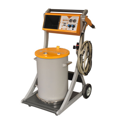 powder painting system for metal object