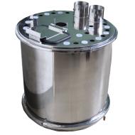 廠家直銷大型不銹鋼粉桶、可拆卸、供粉桶