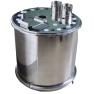 厂家直销大型不锈钢粉桶、可拆卸、金马供粉桶