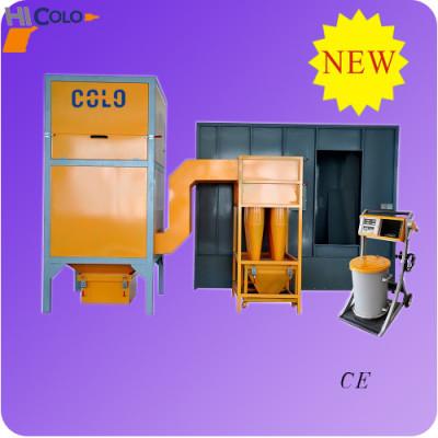 multi cyclone powder coating booth