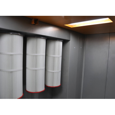 manual powder coating spray booth easy for change