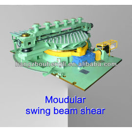 Modular swing beam shear