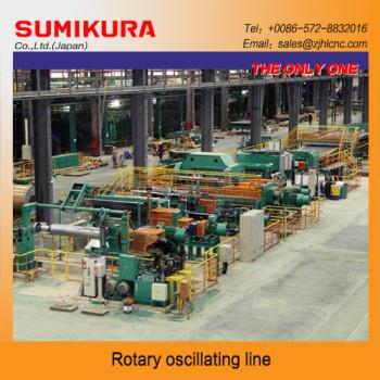 Rotary oscillating shear line