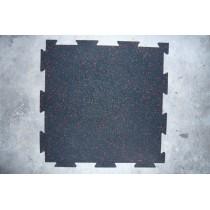 Interlocking rubber mats