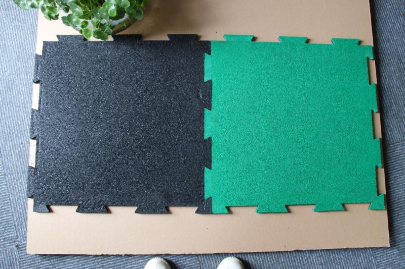 锁扣橡胶地垫,可随意拼接,美观大方,EPDM面层橡胶地板 杭州绿谷