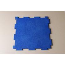 Blue Interlocking rubber tiles