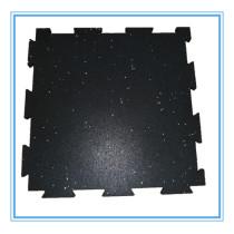 Blue gym rubber tiles