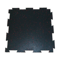 Interlocking  rubber tiles in/speckle tiles