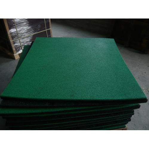 彩色颗粒橡胶地垫减震防滑,EPDM面层橡胶地板 杭州绿谷橡塑制品有