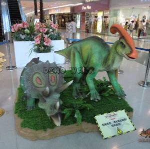 Exposition Dinosaures dans le centre commercial