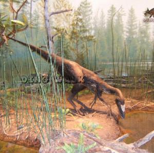 Fiberglass Ornithomimus Model