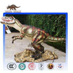 Fierce animatronic dinosaur VelociRaptor