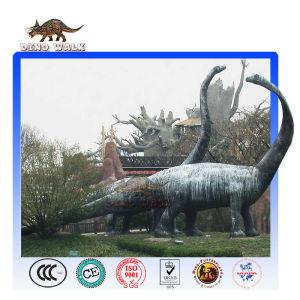 Animatronic dinosaur diplodocus at park