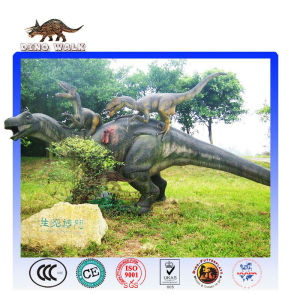 Vivid Lifesize Fighting Dinosaur Model