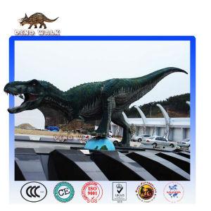 حية الديناصور الجوراسي نموذج شمعي