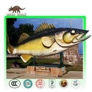Huge animatronic fish model