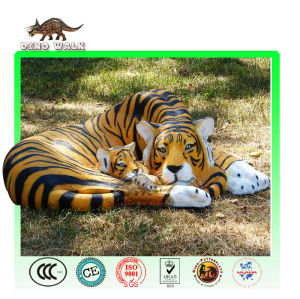 Animatronic animal tiger and baby