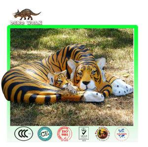 النمر حيوان متحركالنحت والطفل