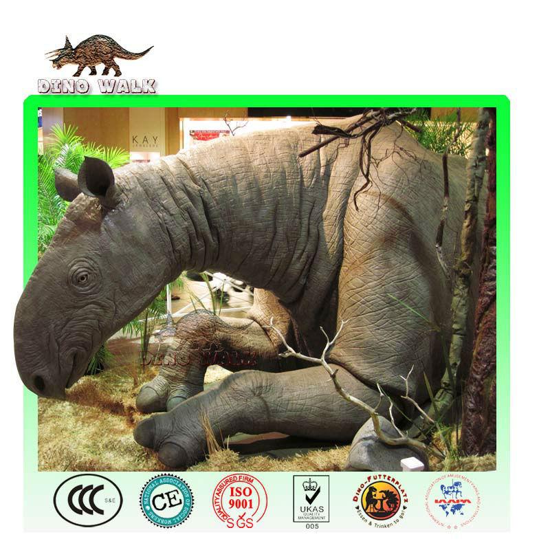 الحجم الحقيقي متحركالنحت paraceratherium