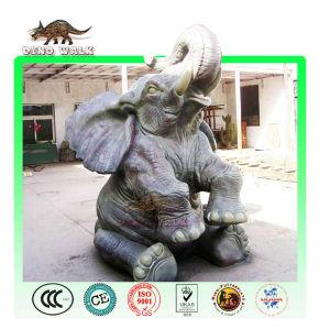zoo anzeige statue elefant