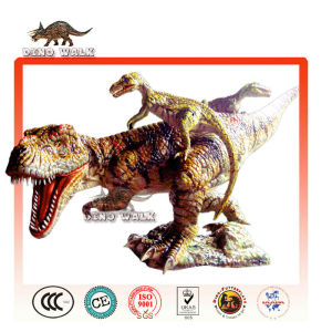 Artificial Dinosaur Battle Scene