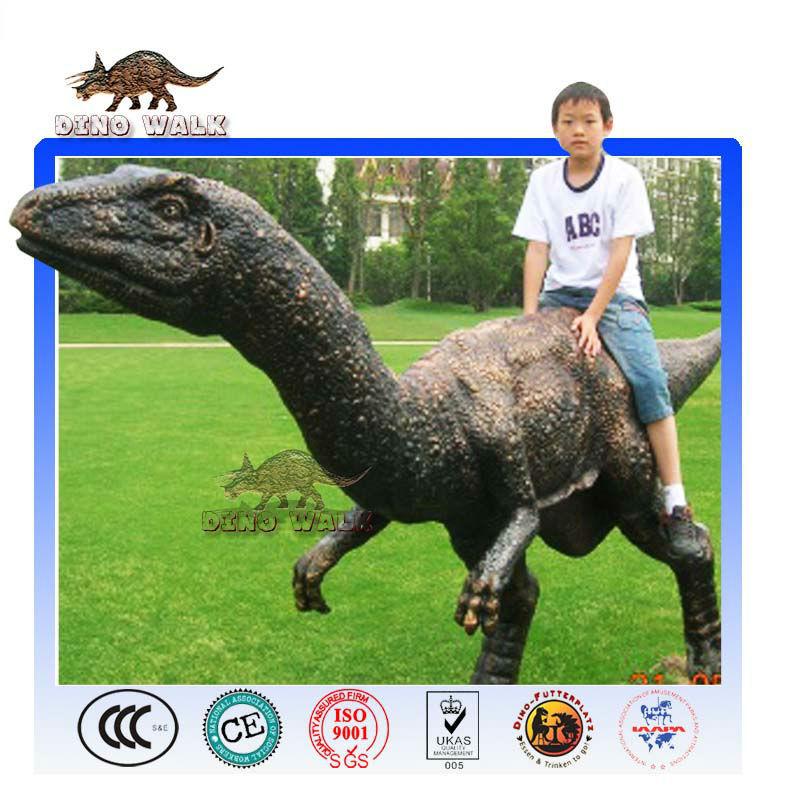 Dinosaur Sculpture as Amusement Ride