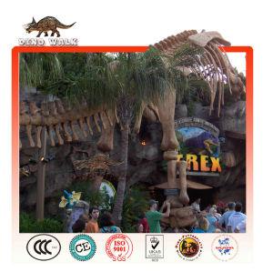 restaurant jurassic tyrannosaurus skelett landschaft