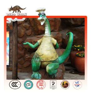 グラスファイバー恐竜シェフ