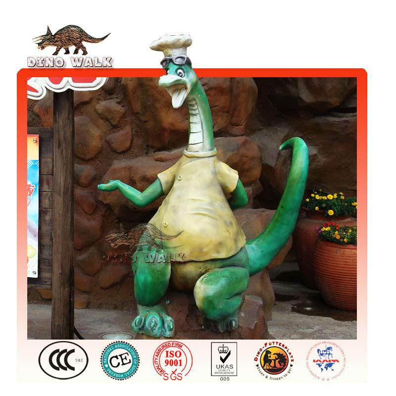 요리사 유리 섬유 공룡
