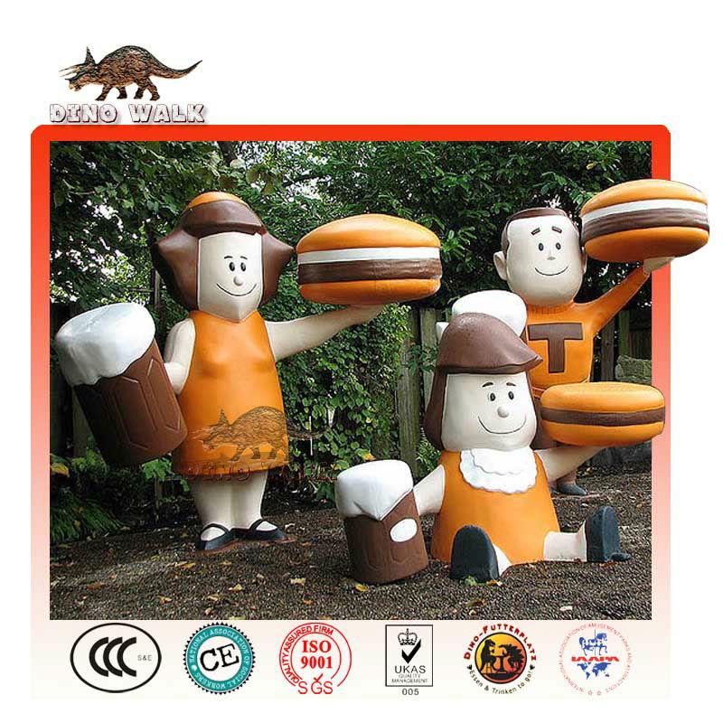Customized Fiberglass Cartoon Figure