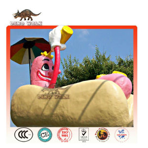 Fiberglass Hot Dog as Restaurant Decorations