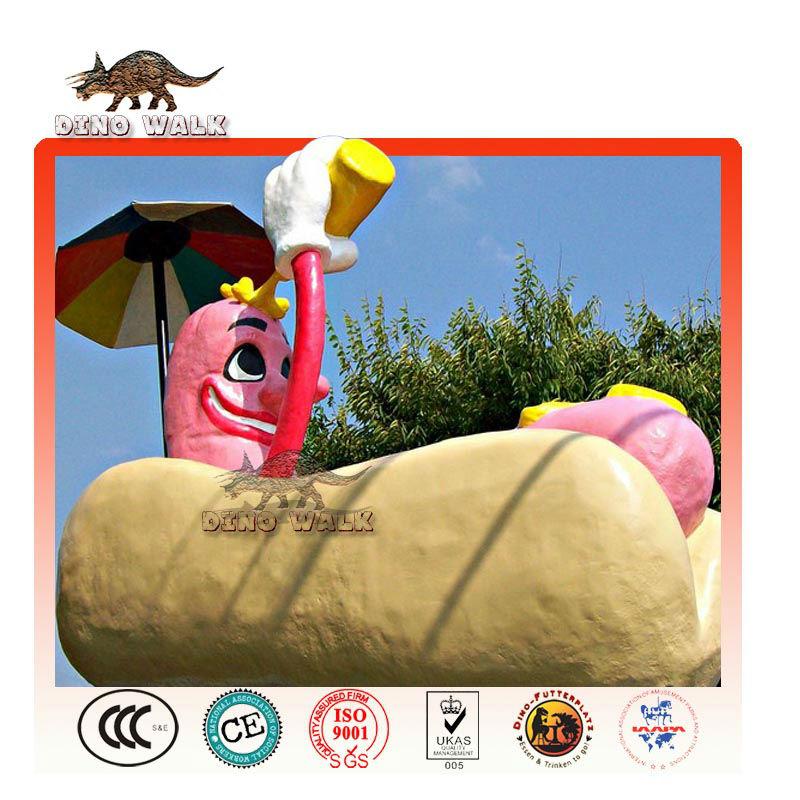 Fiberglass Hot Dog as Restaurant Decorations