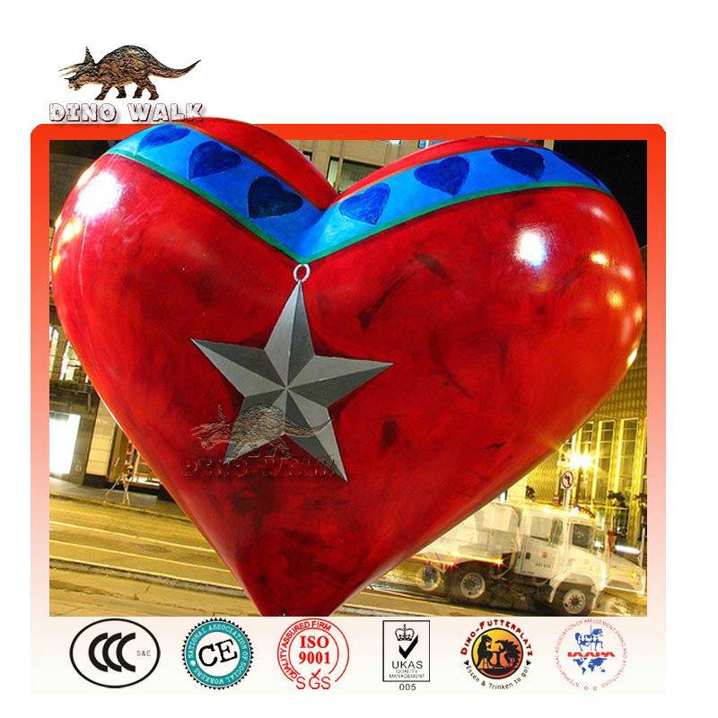 in fibra di vetro amore cuore valentine decorazioni