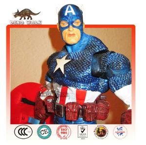 Amerika kaptanı yaşam boyutu fiberglas