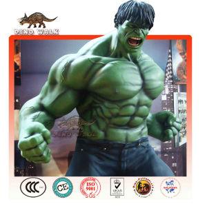vida de tamanho de fibra de vidro modelo hulk
