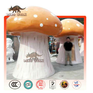 vetroresina fungo scultura