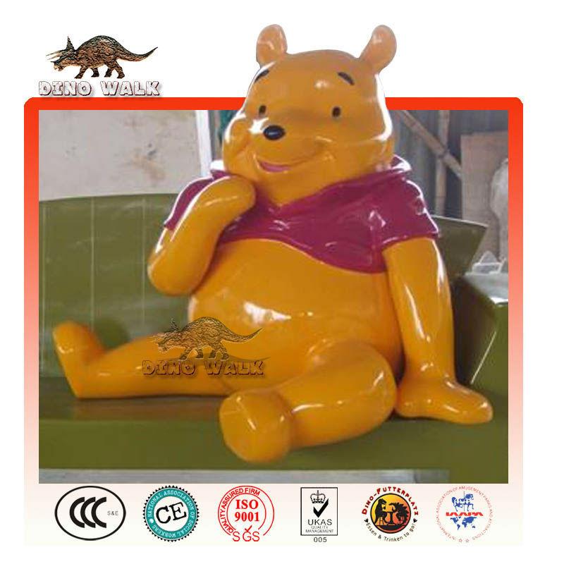 de fibra de vidrio de winne estatua de oso