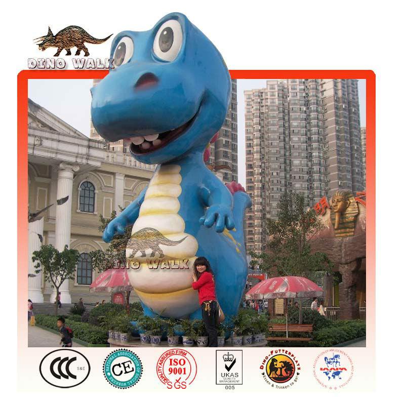 büyük Fiberglas karikatür Dinozor