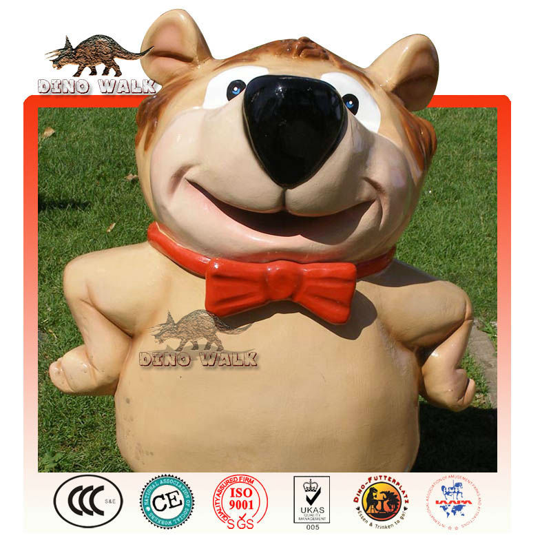 cartoon hund statue fiberglas