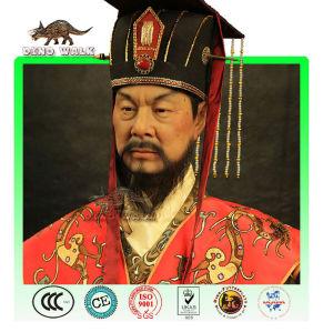 chinesischen kaiser wachs figur