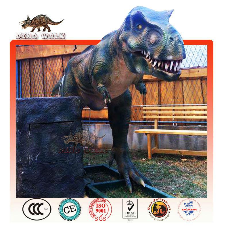 Dinosaure manège de parc d'attractions