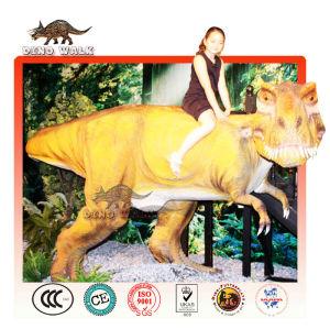 라기 공룡 모델을 타고