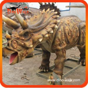Park of animatronic triceratops