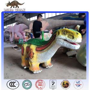 Kiddie Attractive Dinosaur Mini Car For Parks