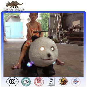 Hot sale! Theme Park Electric Panda Kiddie Rides With Led Light