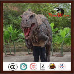 Artificial Life Size Animatronic Realistic Dinosaur Costume For Sale
