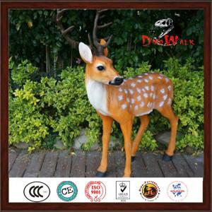Artificial life size animatronic deer statue