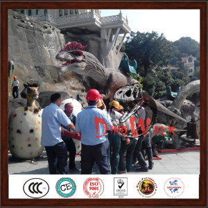Amusement  Park Realistic Dinosaur Model Playground Equipment